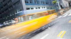 Yellow taxi cabs, New York, USA, Time lapse - stock footage
