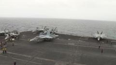USS-Nimitz - Jet 01 Stock Footage