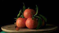 Freshly picked oranges Stock Footage