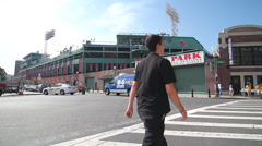 Fenway Park Boston on game day Stock Footage