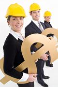 Business people man and women financial industry Stock Photos