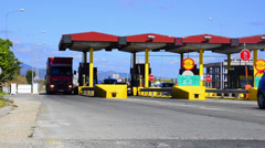 Highway Toll Booth timelapse. - stock footage