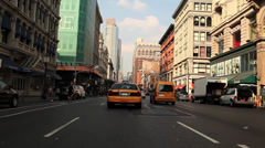Car Mount Traffic NYC - stock footage