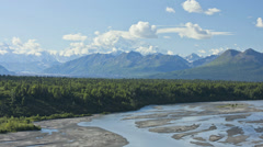 Mt McKinley, Denali State Park, Alaska, USA, Time lapse Stock Footage