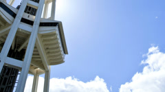 Space Needle lift motion Seattle, USA, Time lapse - stock footage