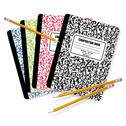 Stock Illustration of Composition books and pencils