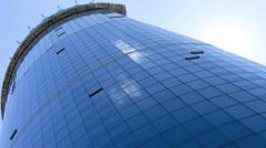 Glass frontage Urban city Skyscraper, USA Stock Footage