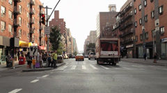 Car Mount Front View NYC Streets Stock Footage