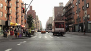 Stock Video Footage of Car Mount Front View NYC Streets