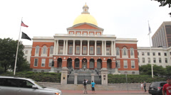 Massachussetts State House Stock Footage