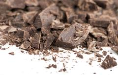 Chocolate pieces Stock Photos