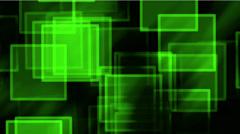 glass green square & mosaic debris background,flash light. - stock footage
