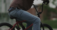Ultra High Definition 4K - Extreme BMXer Posing on Bike Stock Footage
