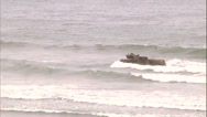 Stock Video Footage of Amphibious Vehicles On Beach - 05