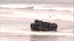 Amphibious Vehicles On Beach - 07 Stock Footage