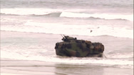Stock Video Footage of Amphibious Vehicles On Beach - 07