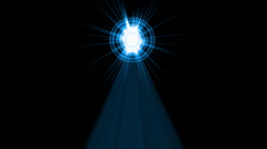 Falling particles from halo tunnel,Chris pyramid beam & rays laser light. Stock Footage