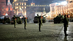 Parade on Red Square Stock Footage