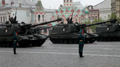 Moscow parade - stock footage
