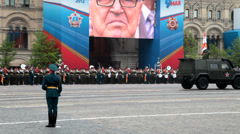 Victory Day Stock Footage