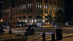 Golden Triangle at night | K Street | Washington DC Stock Footage