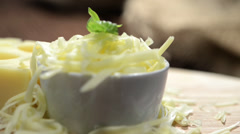 Rotating Emmentaler Cheese Stock Footage