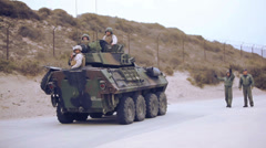 LAV-25 driving - 02 Stock Footage