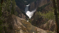Yellowstone National Park Lower Falls 06-27-2013 Stock Footage