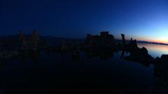 Tufa Formation on Scenic Mono Lake California at Sunrise - Time Lapse -  4K Stock Footage