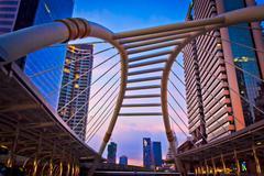 Architecture on the bridge Stock Photos