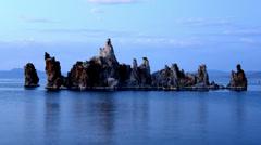 Tufa Formation on Scenic Mono Lake California at Sunset - Time Lapse -  4K Stock Footage