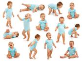 Stock Photo of collection of a baby boy's behavior