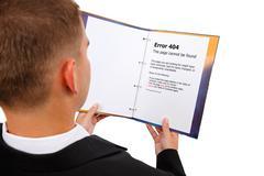Tarkasteltaessa 404-virheen sivun kirjan Kuvituskuvat