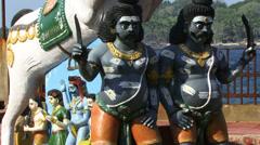 Indian gods Port Blair Stock Footage