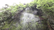 Stock Video Footage of Waterfall in a cloudforest river valley in the Andes near Quito, Ecuador