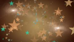Glowing Stars Abstract Motion Background Stock Footage