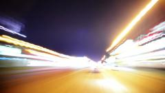 Driving POV Timelapse 08 LA Night Non Stop VJ Loop Stock Footage