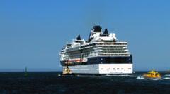Cruise Ship Millenium 4 Stock Footage