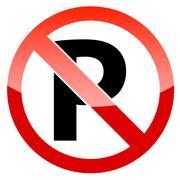 Red restricted warning - stock illustration