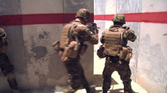 Soldier Combat Training - 06 - stock footage