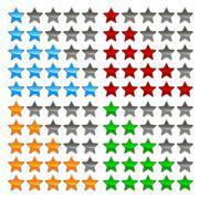 Star levels set - stock illustration