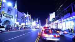 Driving POV Timelapse 33 Hollywood Blvd Night - stock footage
