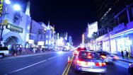 Driving POV Timelapse 33 Hollywood Blvd Night Stock Footage