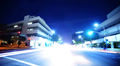 Intersection Traffic Timelapse 01 Loop Beverly Hills Night HD Footage