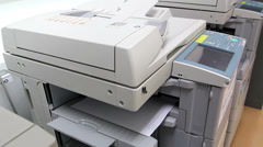 office man using paper copy machine - stock footage