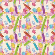 Seamless background, stationery Stock Illustration