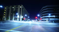 Intersection Traffic Timelapse 06 Loop LA Downtown Night HD Footage
