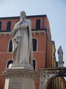 statue of dante - stock photo