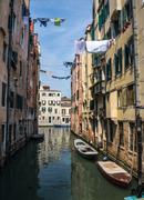 Quiet canal in venice Stock Photos