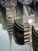 prow of a gondola - stock photo